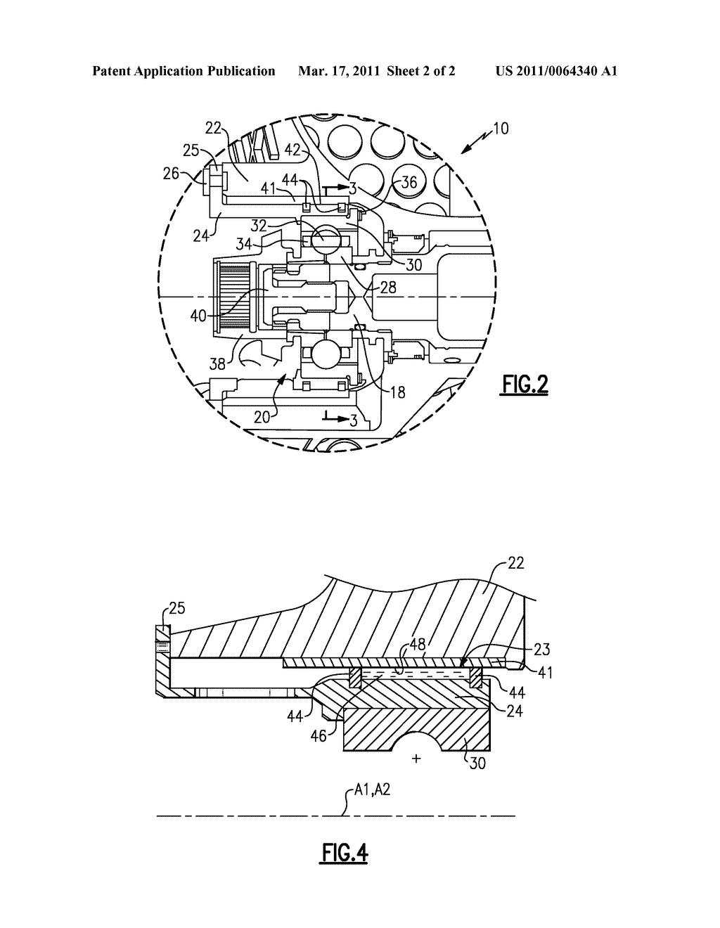 METHOD AND APPARATUS FOR STABILIZING A SQUEEZE FILM DAMPER FOR A ROTATING MACHINE - diagram, schematic, and image 03
