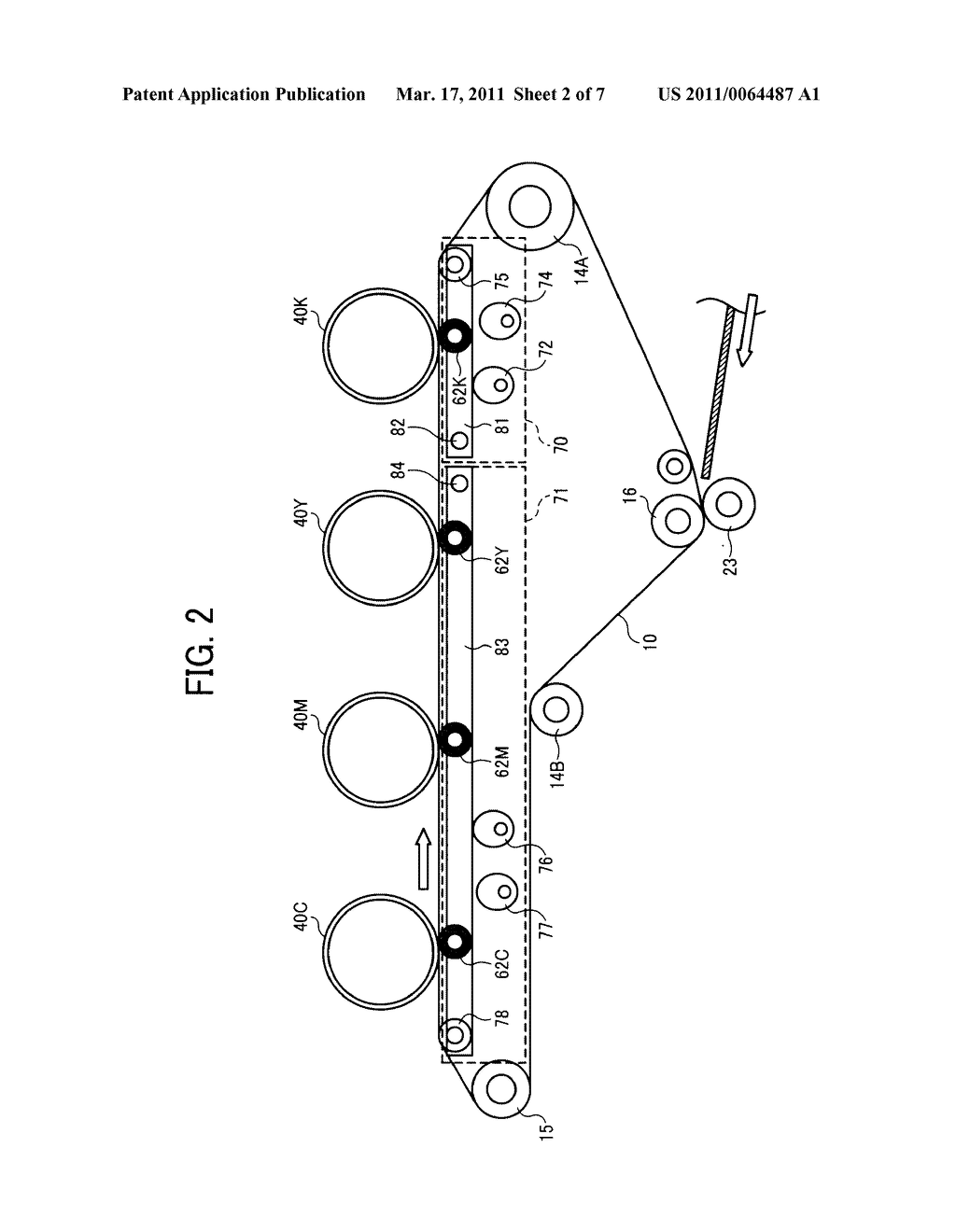 TRANSFER DEVICE AND IMAGE FORMING APPARATUS USING SAME - diagram, schematic, and image 03