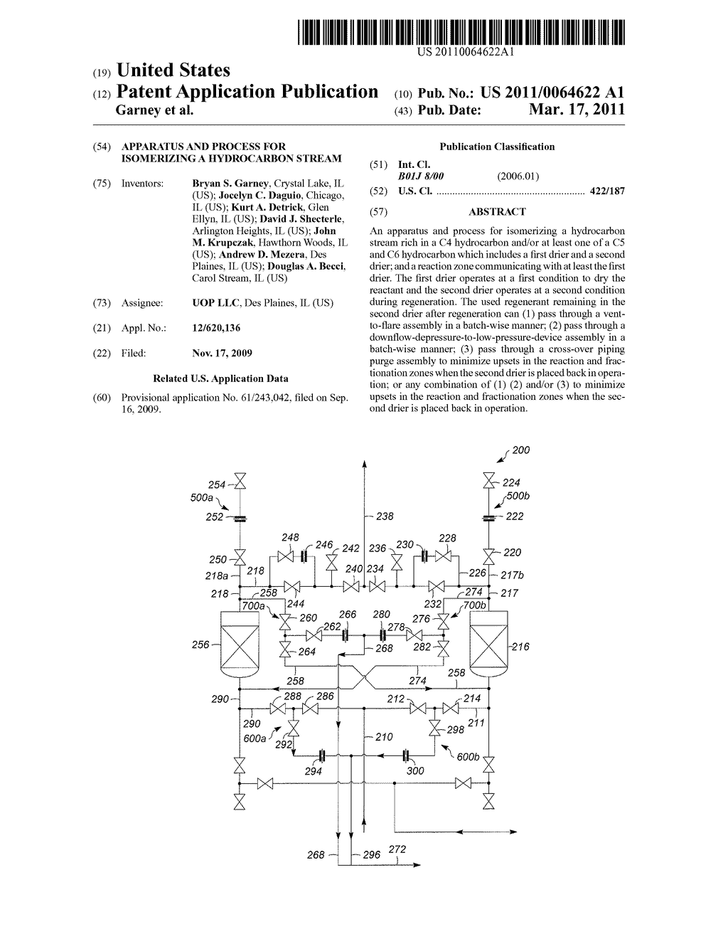 Apparatus and Process for Isomerizing a Hydrocarbon Stream - diagram, schematic, and image 01