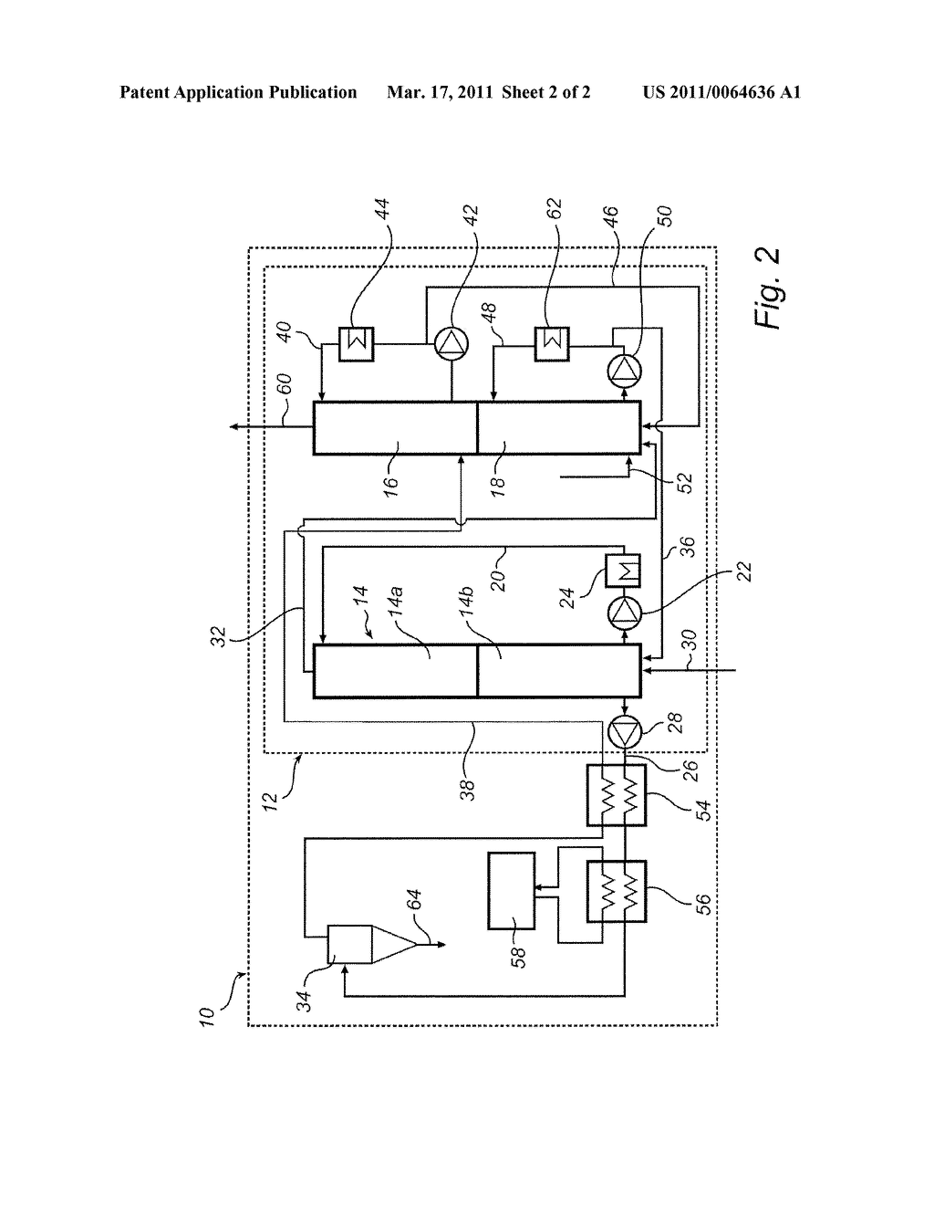 METHOD FOR REMOVAL OF CARBON DIOXIDE FROM A PROCESS GAS - diagram, schematic, and image 03