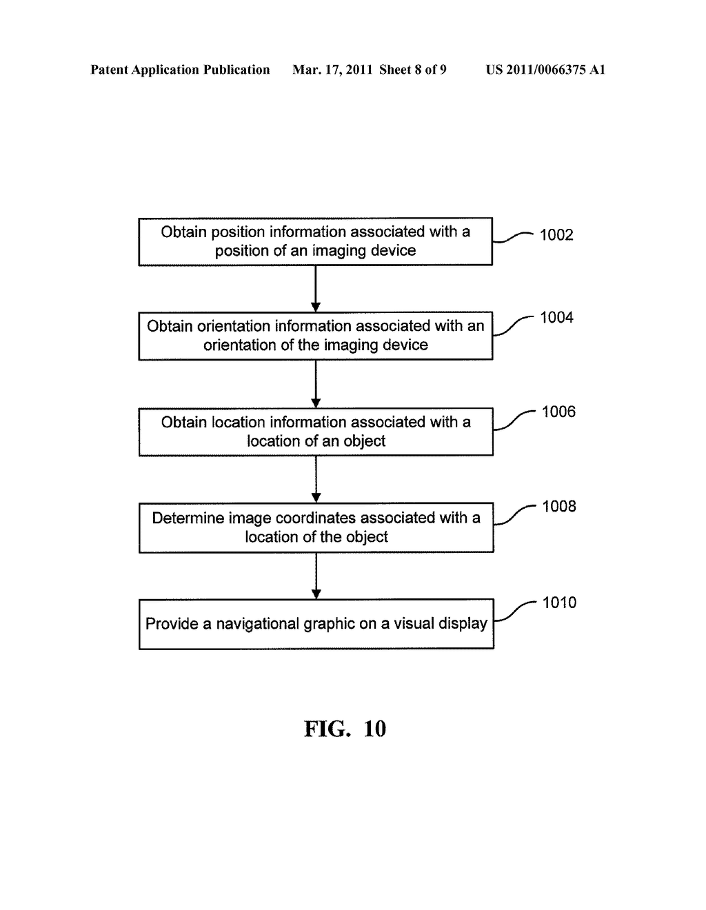METHODS AND APPARATUS FOR PROVIDING NAVIGATIONAL INFORMATION ASSOCIATED WITH LOCATIONS OF OBJECTS - diagram, schematic, and image 09