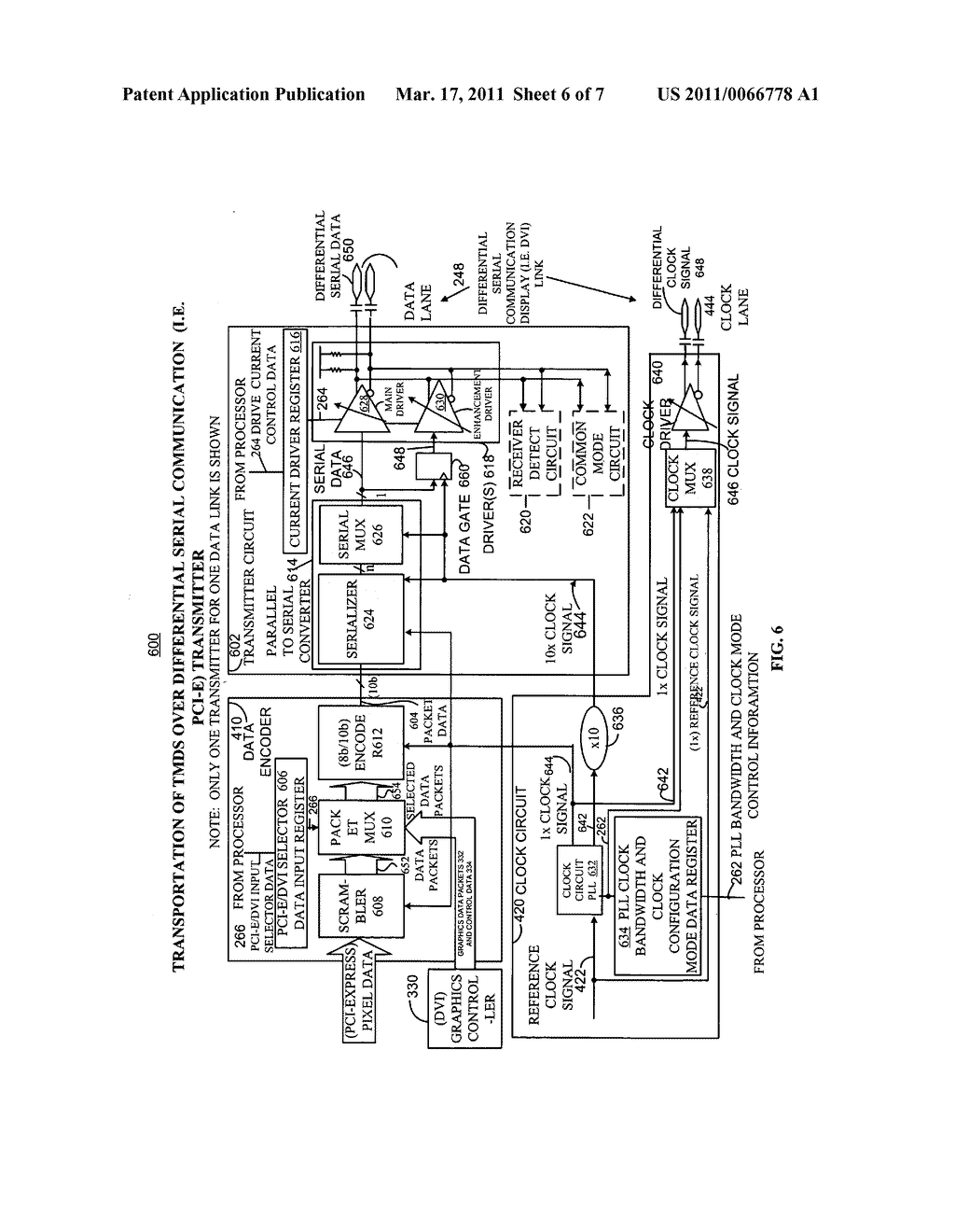 METHOD AND APPARATUS FOR TRANSPORTING AND INTEROPERATING TRANSITION MINIMIZED DIFFERENTIAL SIGNALING OVER DIFFERENTIAL SERIAL COMMUNICATION TRANSMITTERS - diagram, schematic, and image 07