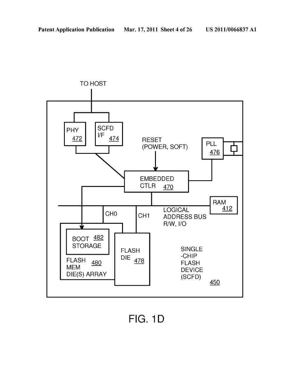 Single-Chip Flash Device with Boot Code Transfer Capability - diagram, schematic, and image 06