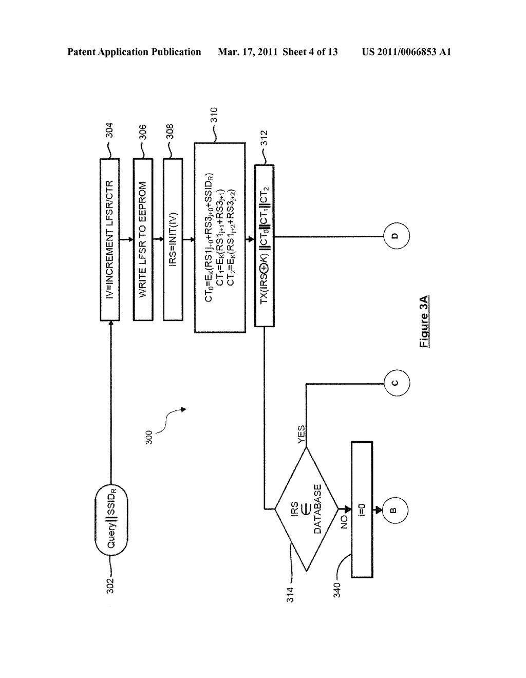 SYSTEM AND METHOD FOR SECURELY IDENTIFYING AND AUTHENTICATING DEVICES IN A SYMMETRIC ENCRYPTION SYSTEM - diagram, schematic, and image 05