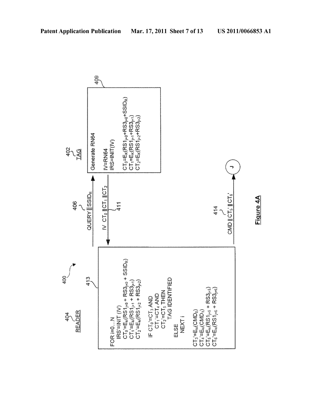 SYSTEM AND METHOD FOR SECURELY IDENTIFYING AND AUTHENTICATING DEVICES IN A SYMMETRIC ENCRYPTION SYSTEM - diagram, schematic, and image 08
