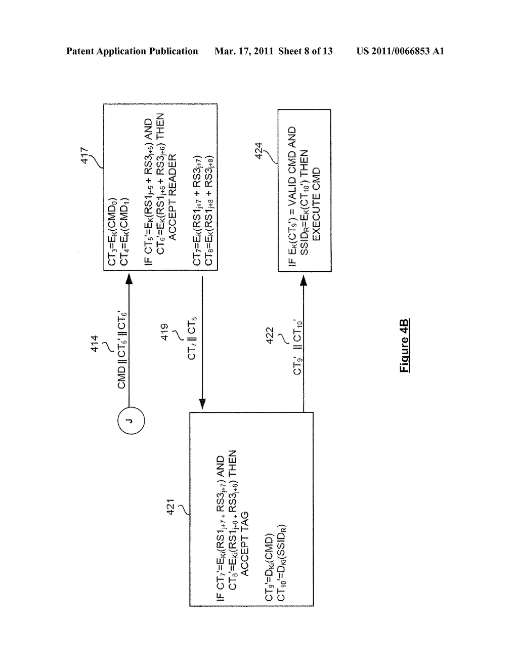 SYSTEM AND METHOD FOR SECURELY IDENTIFYING AND AUTHENTICATING DEVICES IN A SYMMETRIC ENCRYPTION SYSTEM - diagram, schematic, and image 09