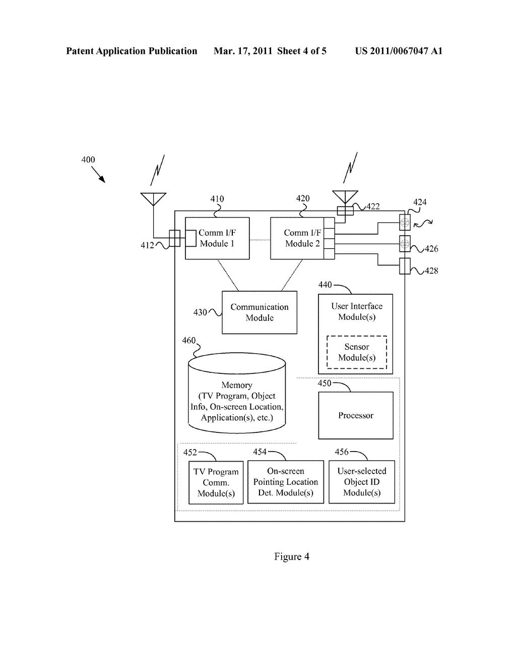 SYSTEM AND METHOD IN A DISTRIBUTED SYSTEM FOR PROVIDING USER-SELECTION OF OBJECTS IN A TELEVISION PROGRAM - diagram, schematic, and image 05