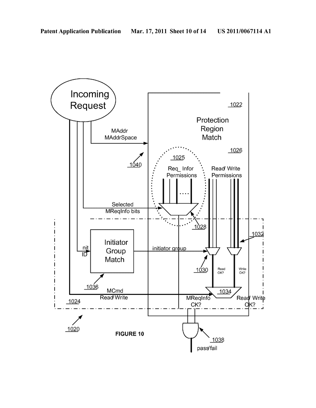 METHODS AND APPARATUS FOR A CONFIGURABLE PROTECTION ARCHITECTURE FOR ON-CHIP SYSTEMS - diagram, schematic, and image 11