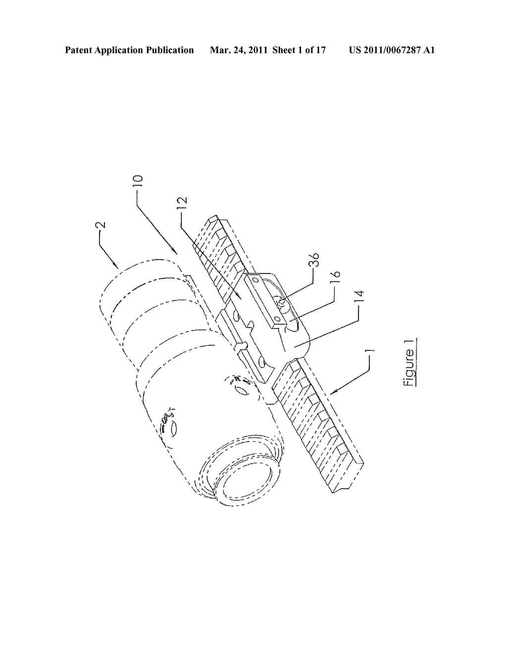 MOUNTING DEVICE FOR WEAPON - diagram, schematic, and image 02