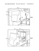 REFRIGERATOR ICE COMPARTMENT LATCH AND COVER diagram and image