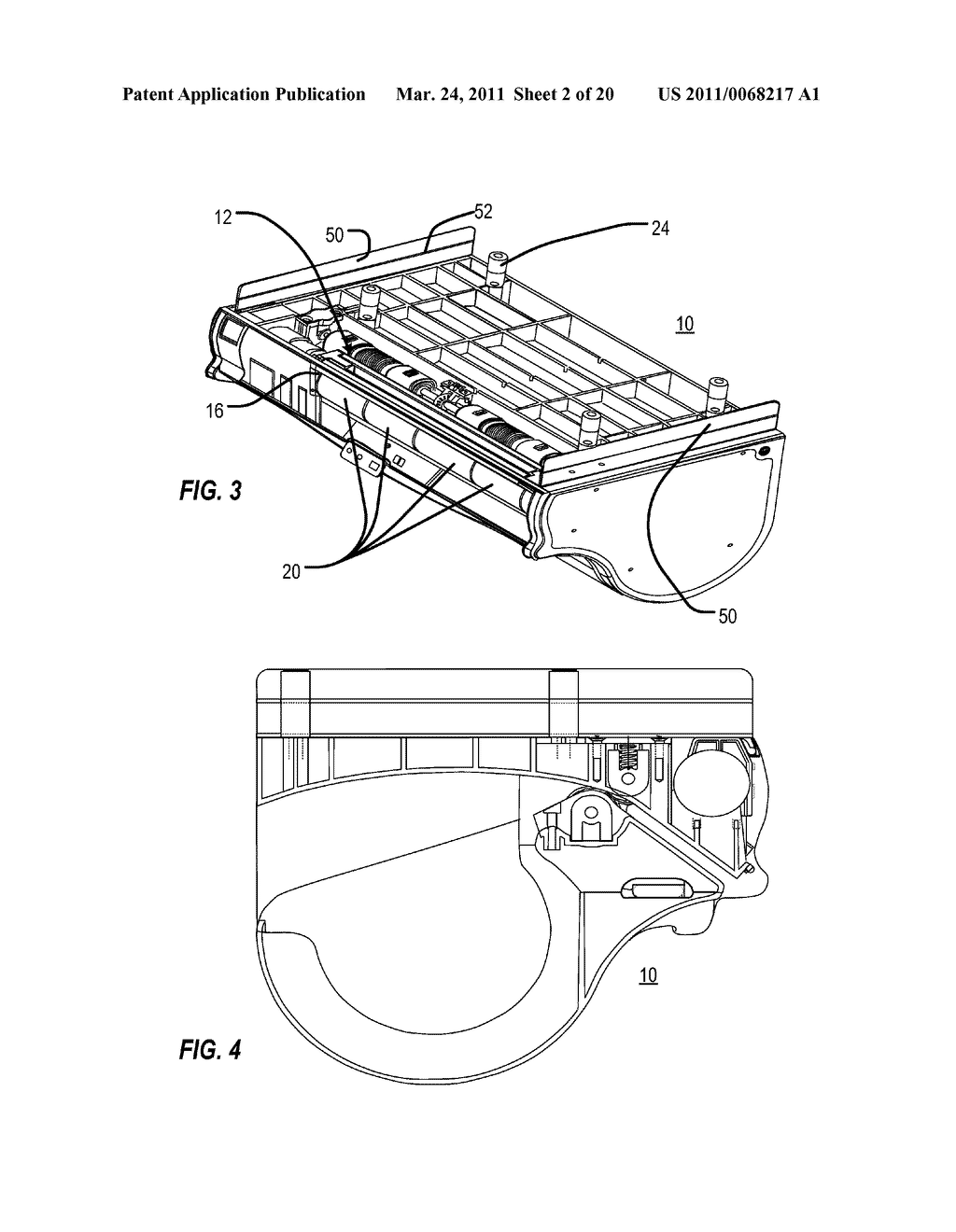 ACCOMMODATING RETRACTION OF EXCESS TOWELING BACK INTO HOUSING OF AUTOMATIC TOWEL DISPENSER - diagram, schematic, and image 03
