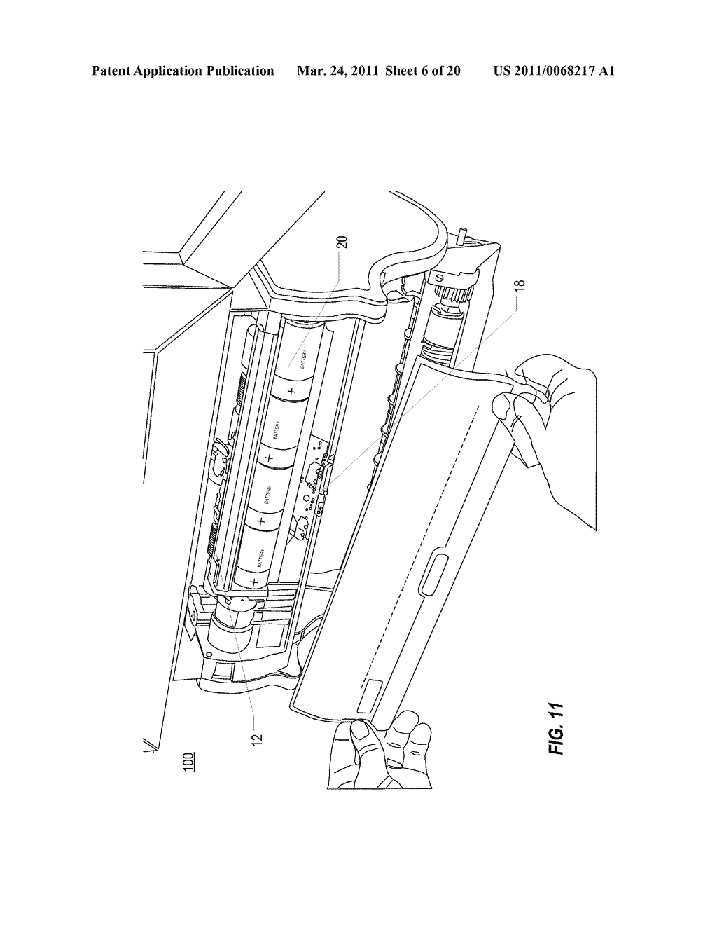 ACCOMMODATING RETRACTION OF EXCESS TOWELING BACK INTO HOUSING OF AUTOMATIC TOWEL DISPENSER - diagram, schematic, and image 07