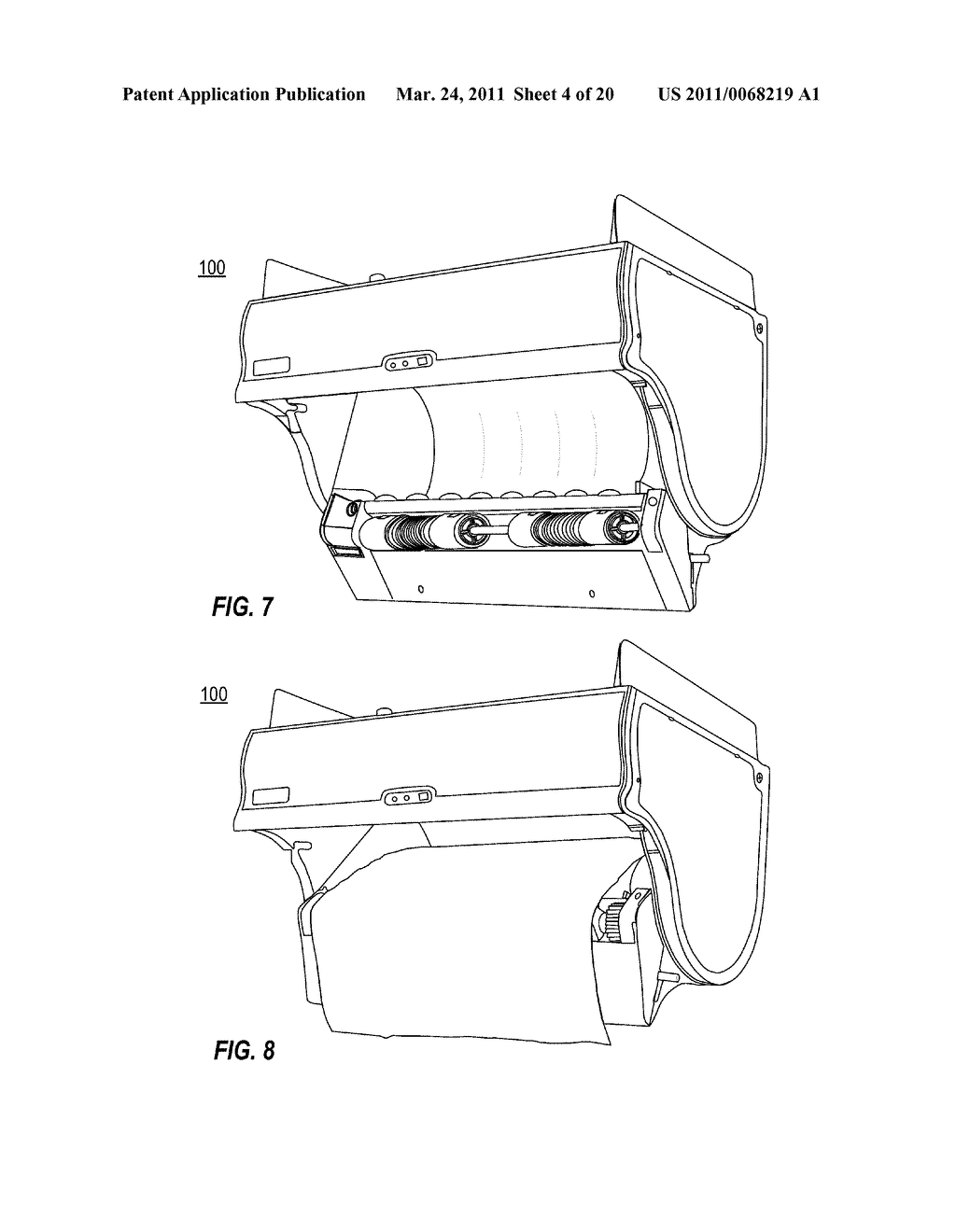 TRANSMISSION ARRANGEMENT IN AUTOMATIC TOWEL DISPENSER - diagram, schematic, and image 05