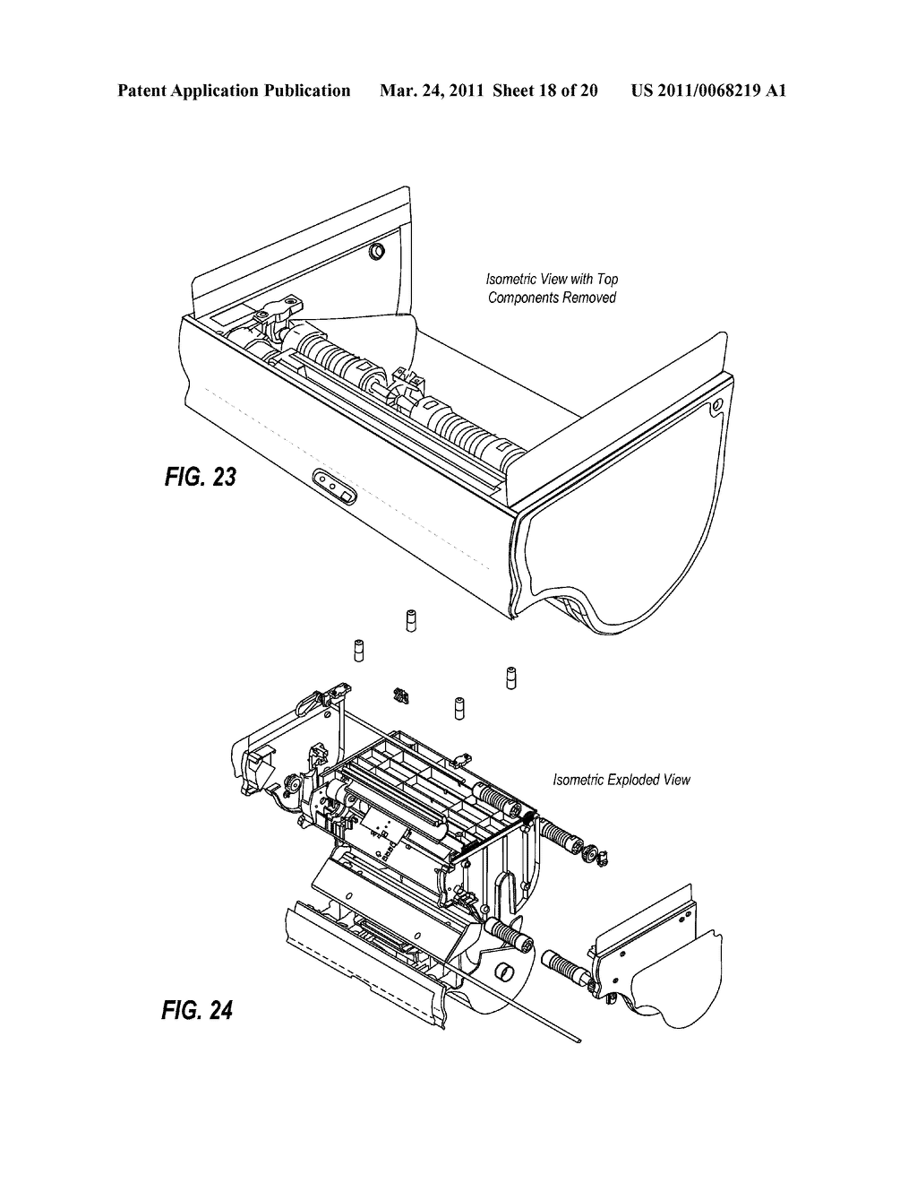 TRANSMISSION ARRANGEMENT IN AUTOMATIC TOWEL DISPENSER - diagram, schematic, and image 19