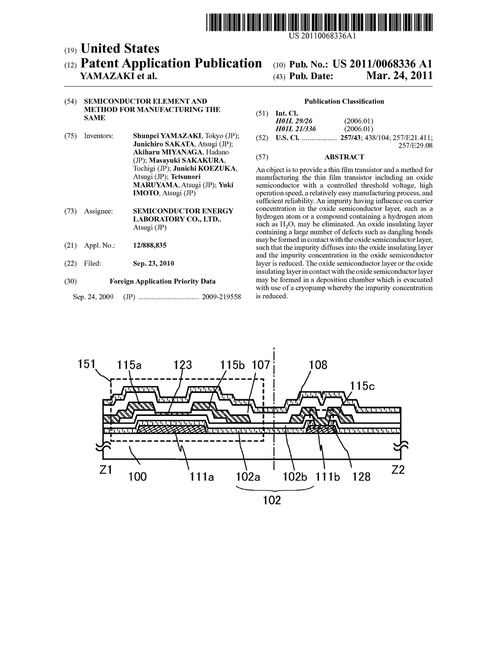 SEMICONDUCTOR ELEMENT AND METHOD FOR MANUFACTURING THE SAME - diagram, schematic, and image 01
