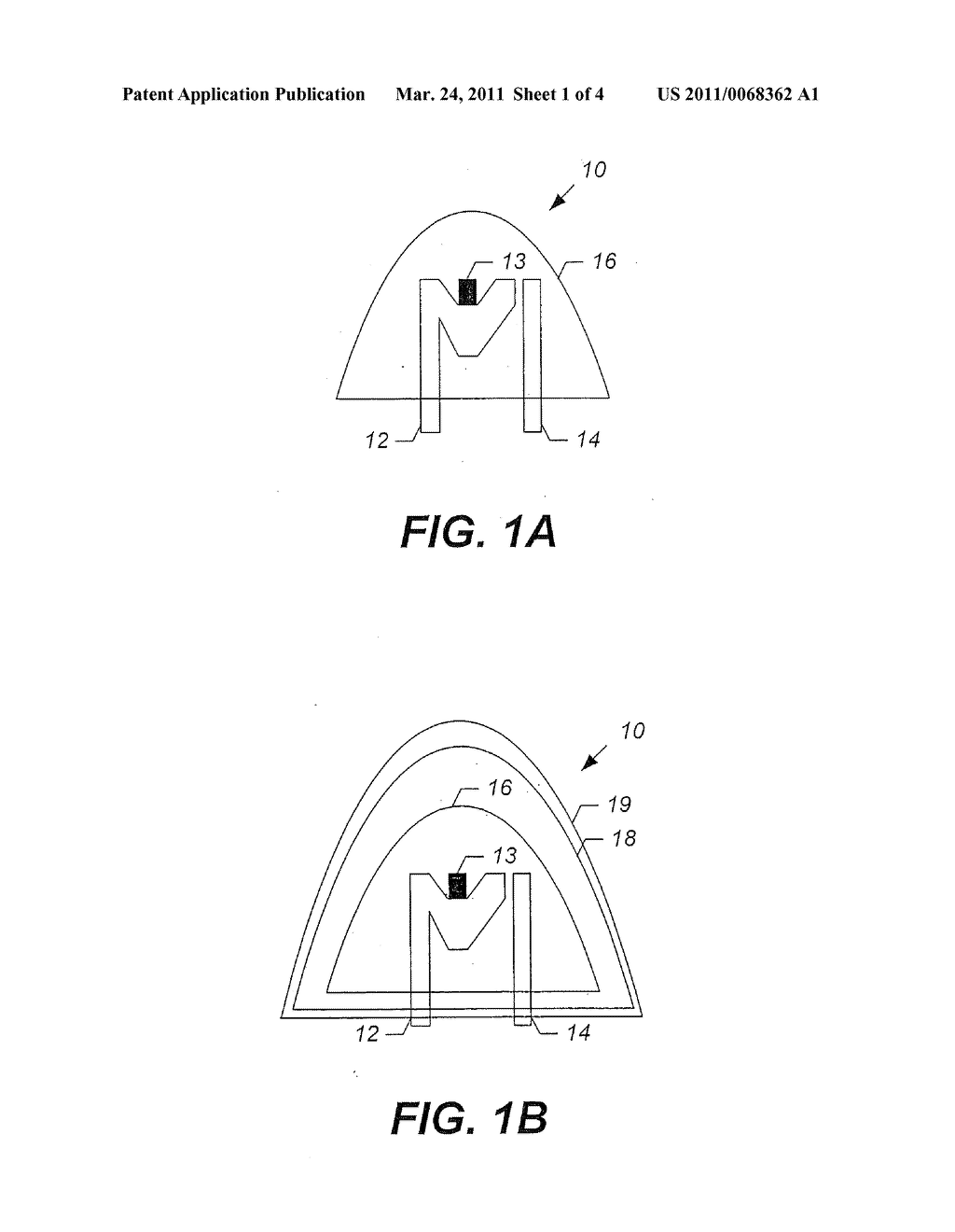 Light-Emitting Devices Having Multiple Encapsulation Layers With at Least One of the Encapsulation Layers Including Nanoparticles and Methods of Forming the Same - diagram, schematic, and image 02