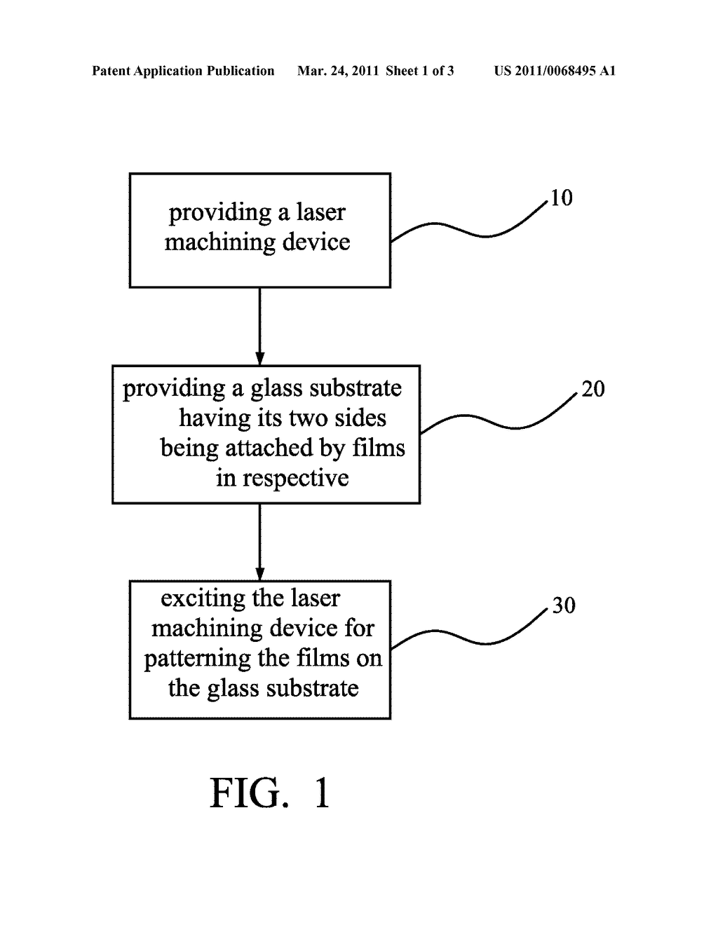 METHOD FOR PROCESSING FILMS ATTACHED ON TWO SIDES OF A GLASS SUBSTRATE - diagram, schematic, and image 02