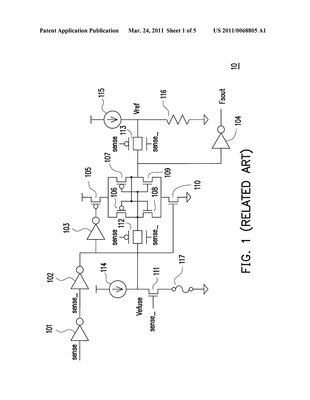 SENSING CIRCUIT FOR SENSING ELECTRIC FUSE AND SENSING METHOD THEREOF - diagram, schematic, and image 02