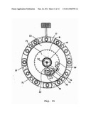 TIMEPIECE WITH VARIABLE HOUR CIRCLE diagram and image