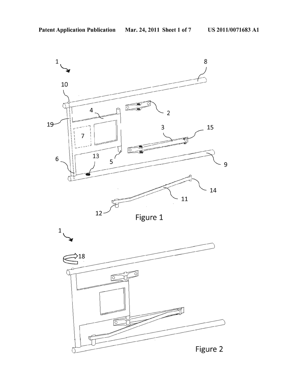 Mounting Apparatus for a Television or Display - diagram, schematic, and image 02