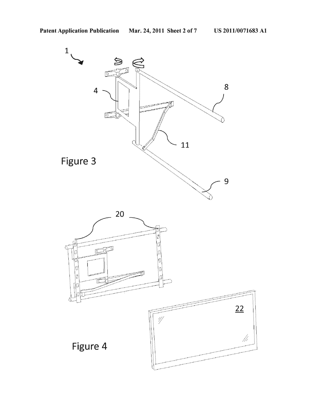Mounting Apparatus for a Television or Display - diagram, schematic, and image 03