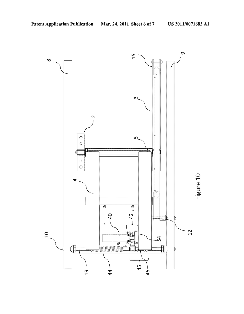 Mounting Apparatus for a Television or Display - diagram, schematic, and image 07