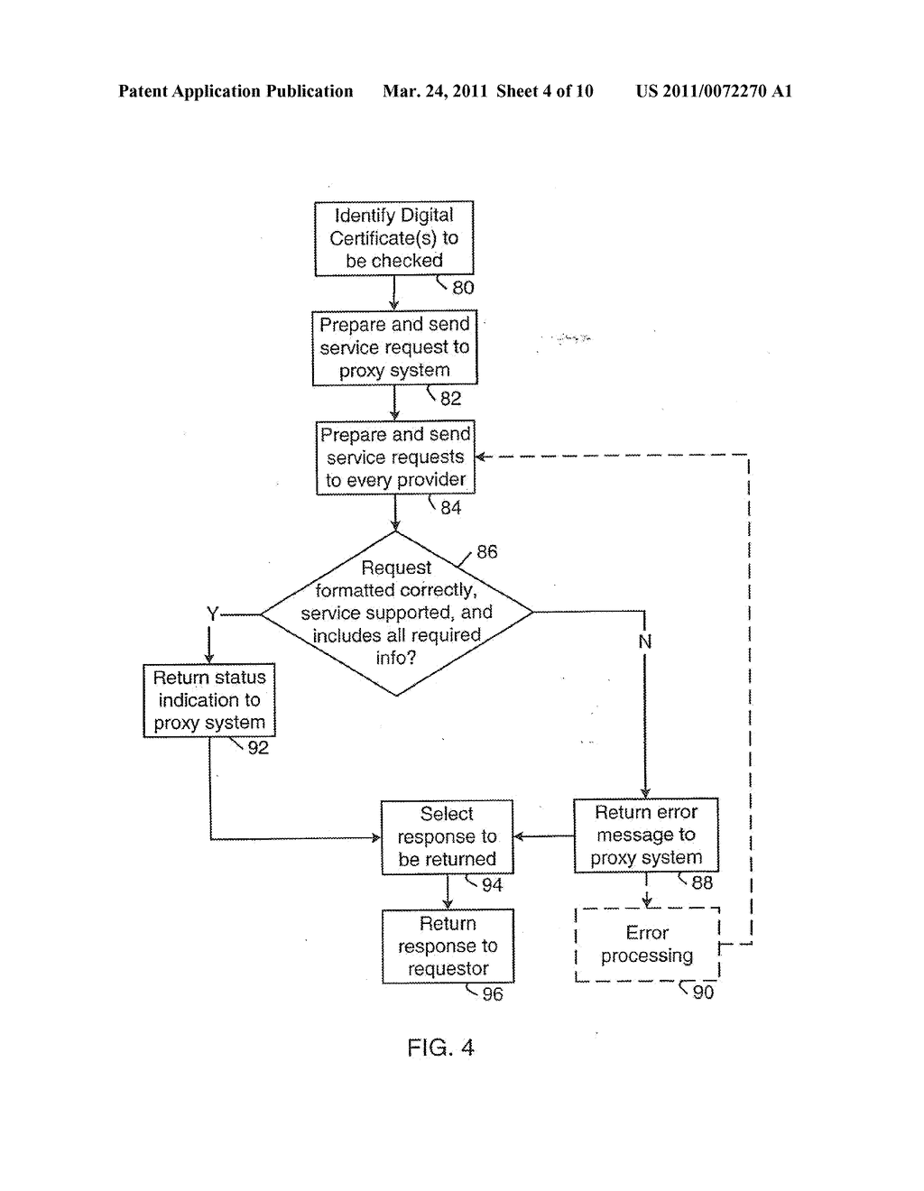 SYSTEM AND METHOD FOR SUPPORTING MULTIPLE CERTIFICATE STATUS PROVIDERS ON A MOBILE COMMUNICATION DEVICE - diagram, schematic, and image 05