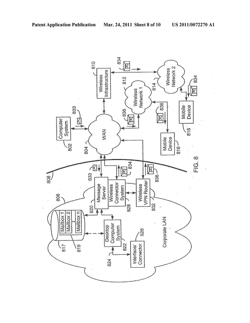 SYSTEM AND METHOD FOR SUPPORTING MULTIPLE CERTIFICATE STATUS PROVIDERS ON A MOBILE COMMUNICATION DEVICE - diagram, schematic, and image 09