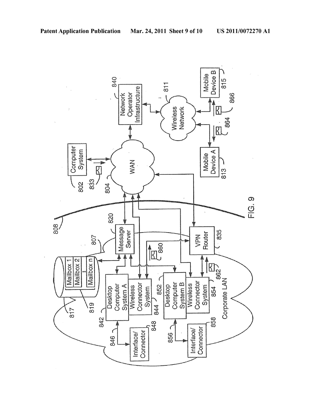 SYSTEM AND METHOD FOR SUPPORTING MULTIPLE CERTIFICATE STATUS PROVIDERS ON A MOBILE COMMUNICATION DEVICE - diagram, schematic, and image 10