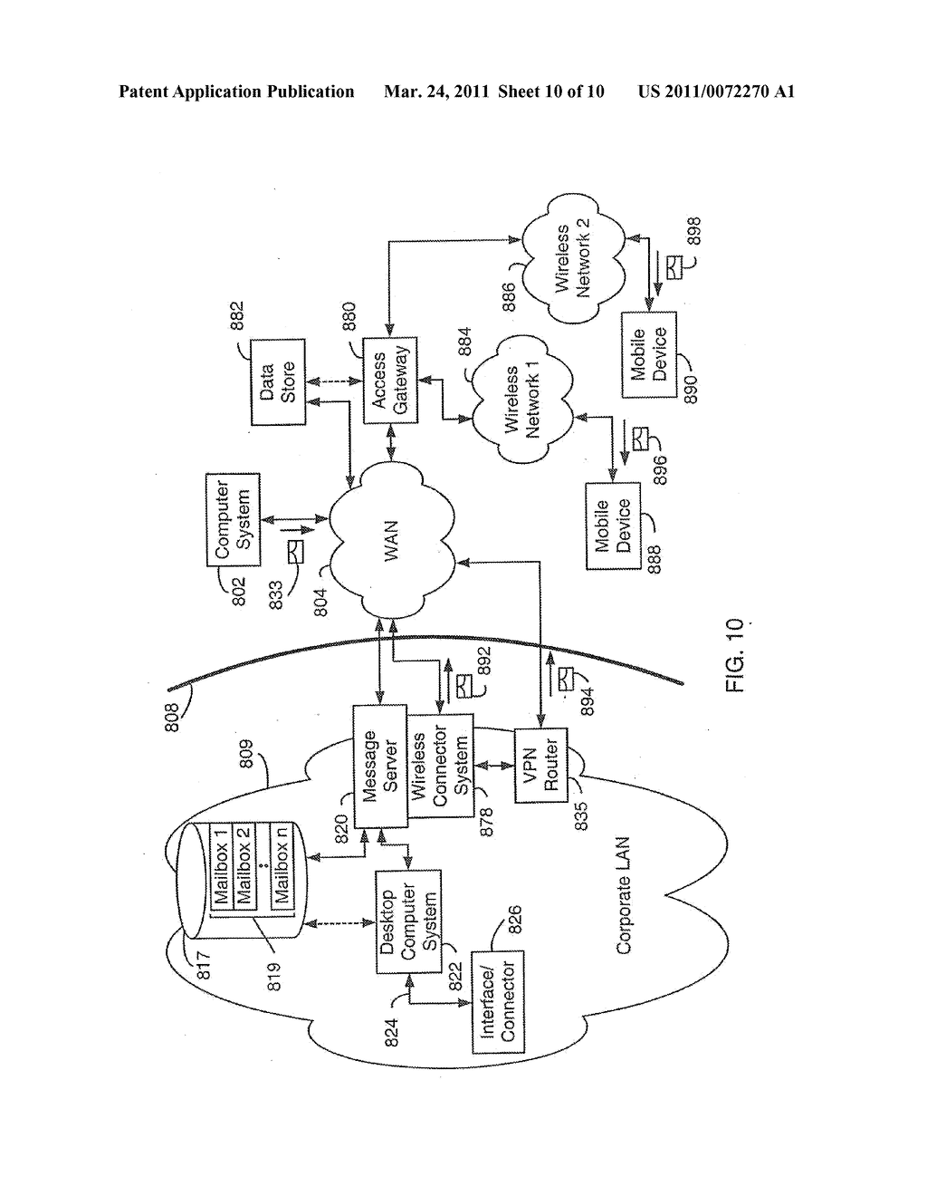 SYSTEM AND METHOD FOR SUPPORTING MULTIPLE CERTIFICATE STATUS PROVIDERS ON A MOBILE COMMUNICATION DEVICE - diagram, schematic, and image 11