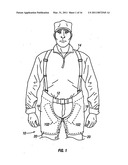 Close quarter ballistic chaps with extensions and/or release system diagram and image