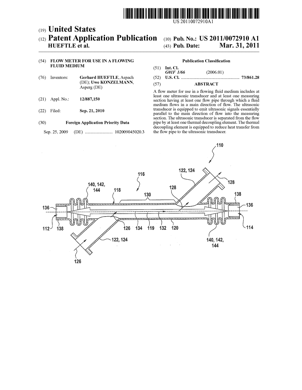 FLOW METER FOR USE IN A FLOWING FLUID MEDIUM - diagram, schematic, and image 01