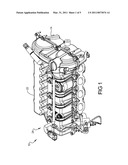 ENGINE ASSEMBLY INCLUDING CAM COVER MOUNTED FUEL RAIL diagram and image