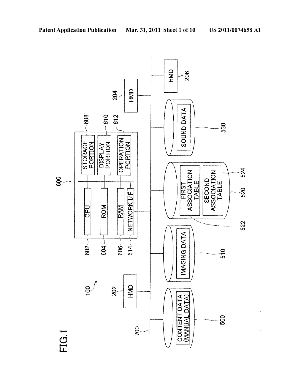 HEAD MOUNTED DISPLAY AND IMAGING DATA USAGE SYSTEM INCLUDING THE SAME - diagram, schematic, and image 02