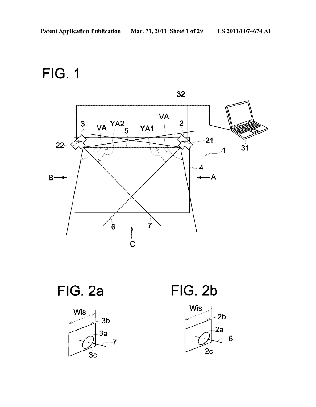 PORTABLE INPUT DEVICE, METHOD FOR CALIBRATION THEREOF, AND COMPUTER READABLE RECORDING MEDIUM STORING PROGRAM FOR CALIBRATION - diagram, schematic, and image 02
