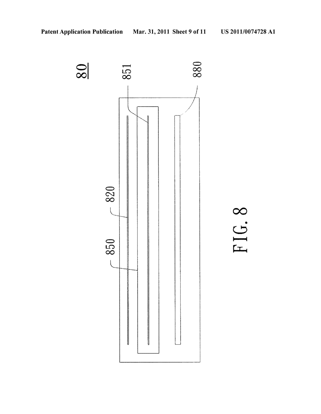 Capacitive Sensing Apparatus and Method Applied to Touch Screen Using the Capacitive Sensing Apparatus - diagram, schematic, and image 10