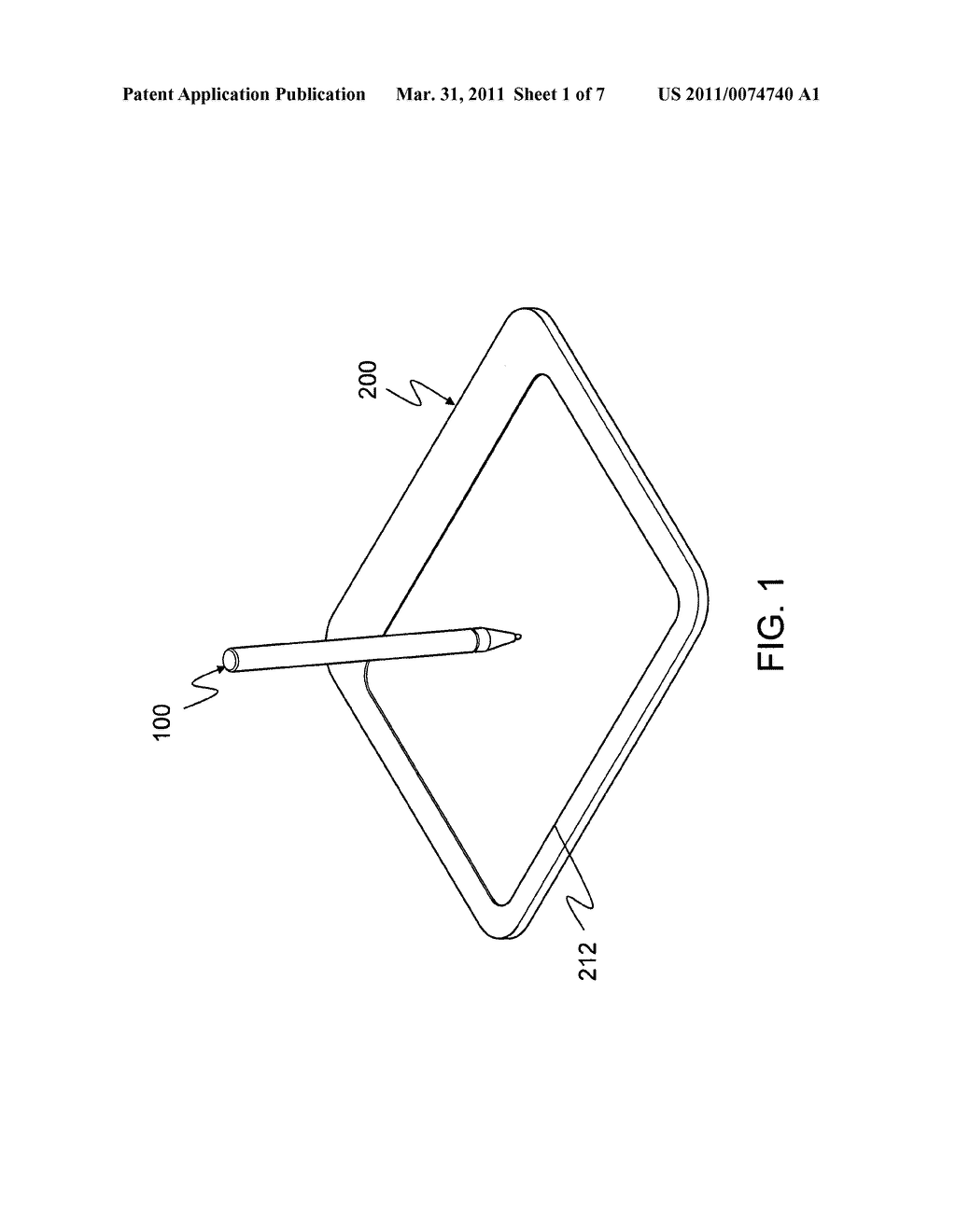 Digital tablet for battery-free wireless pointer device and power supply method of the digital tablet for battery-free wireless pointer device - diagram, schematic, and image 02