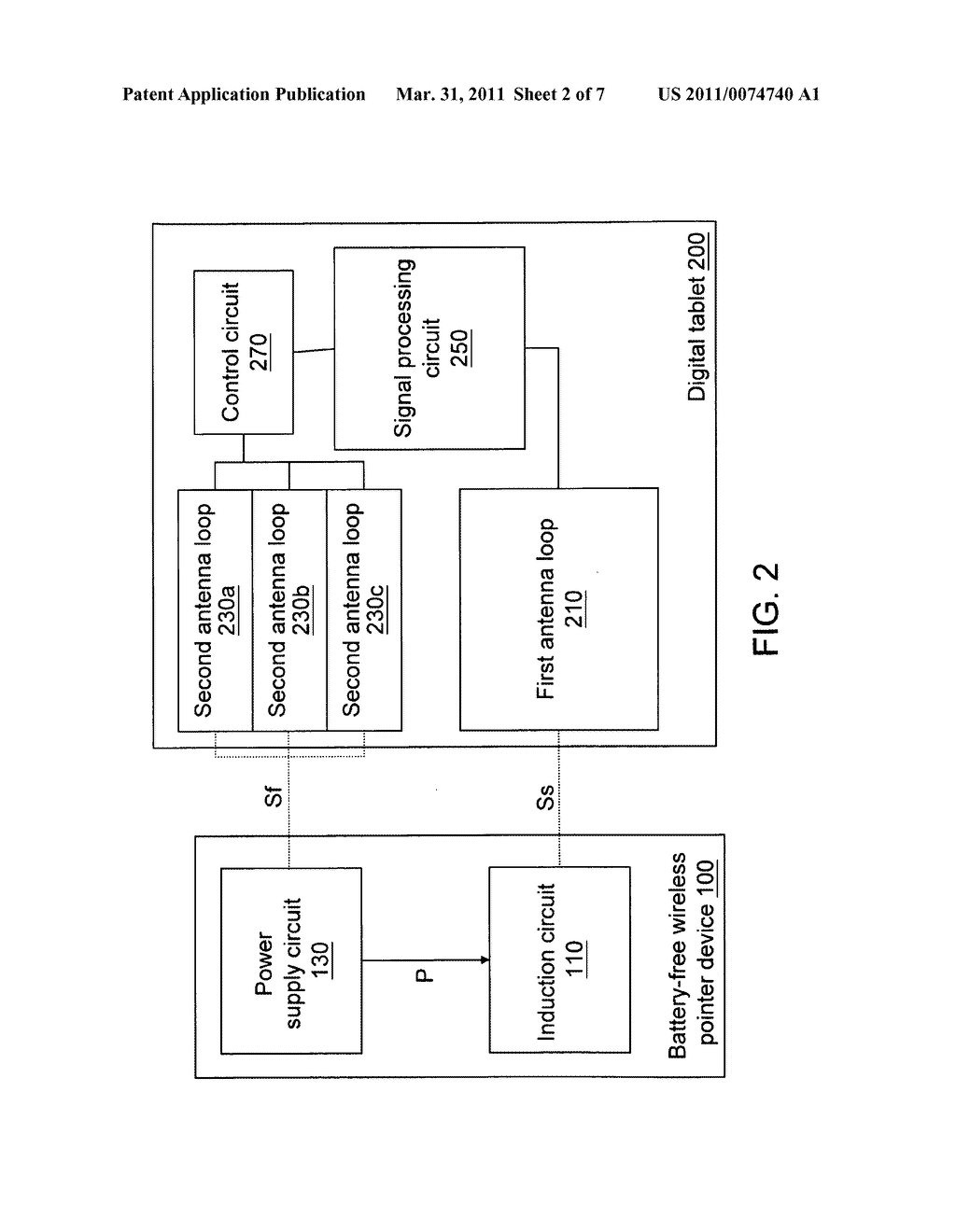Digital tablet for battery-free wireless pointer device and power supply method of the digital tablet for battery-free wireless pointer device - diagram, schematic, and image 03