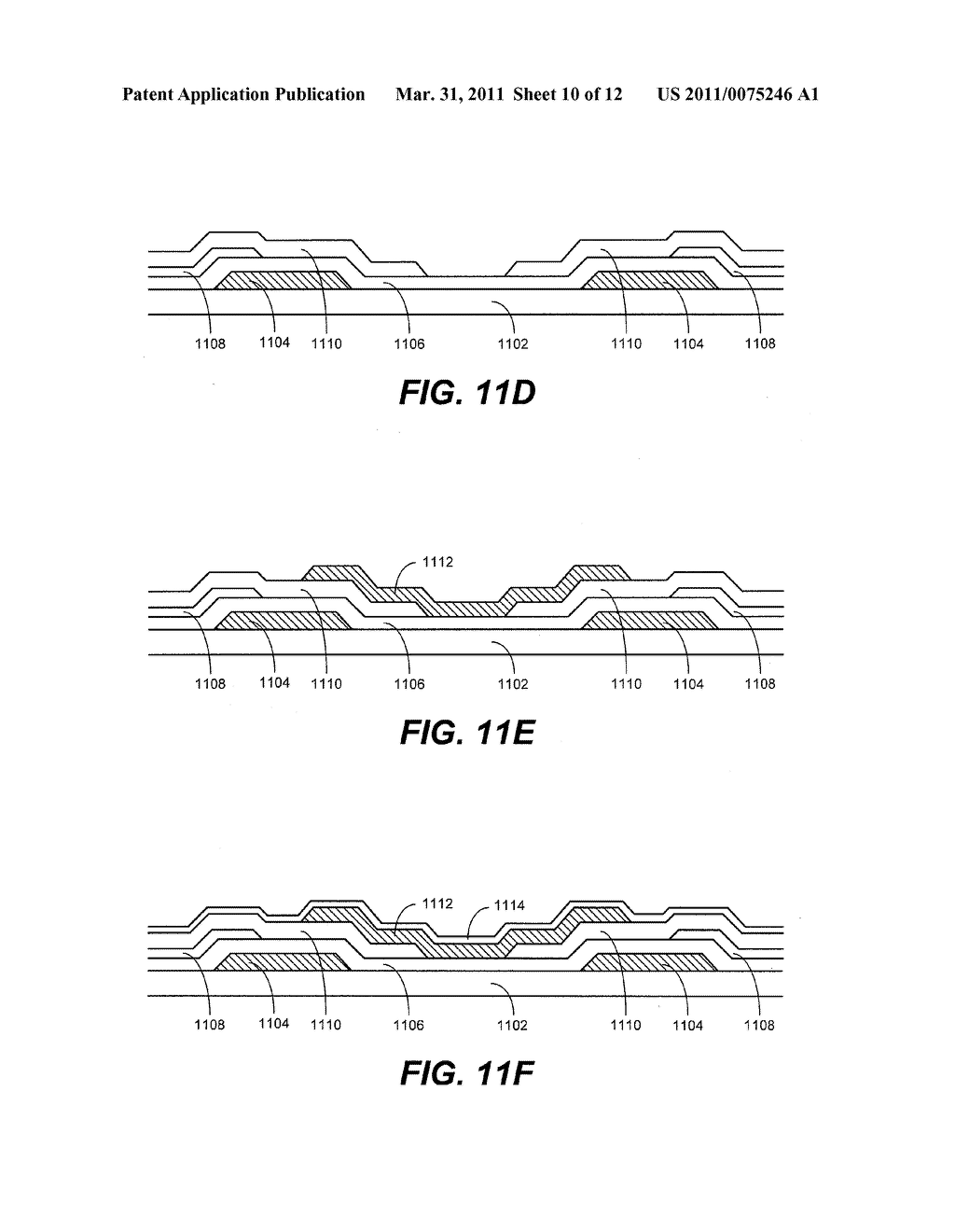METHOD AND APPARATUS FOR PROVIDING A LIGHT ABSORBING MASK IN AN INTERFEROMETRIC MODULATOR DISPLAY - diagram, schematic, and image 11