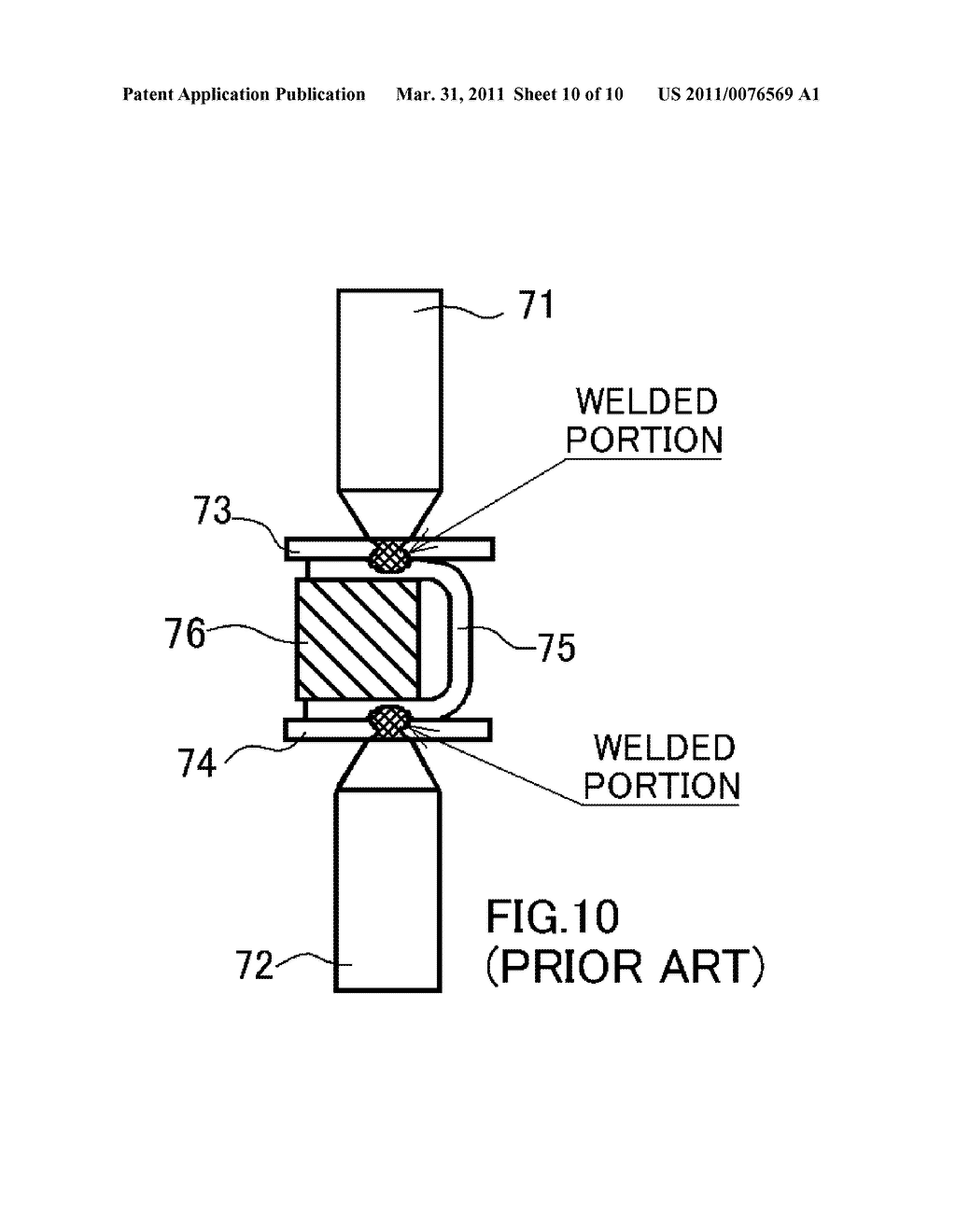 Current Carrying Block For Resistance Welding And Method Diagram Manufacturing Sealed Battery Each Using The