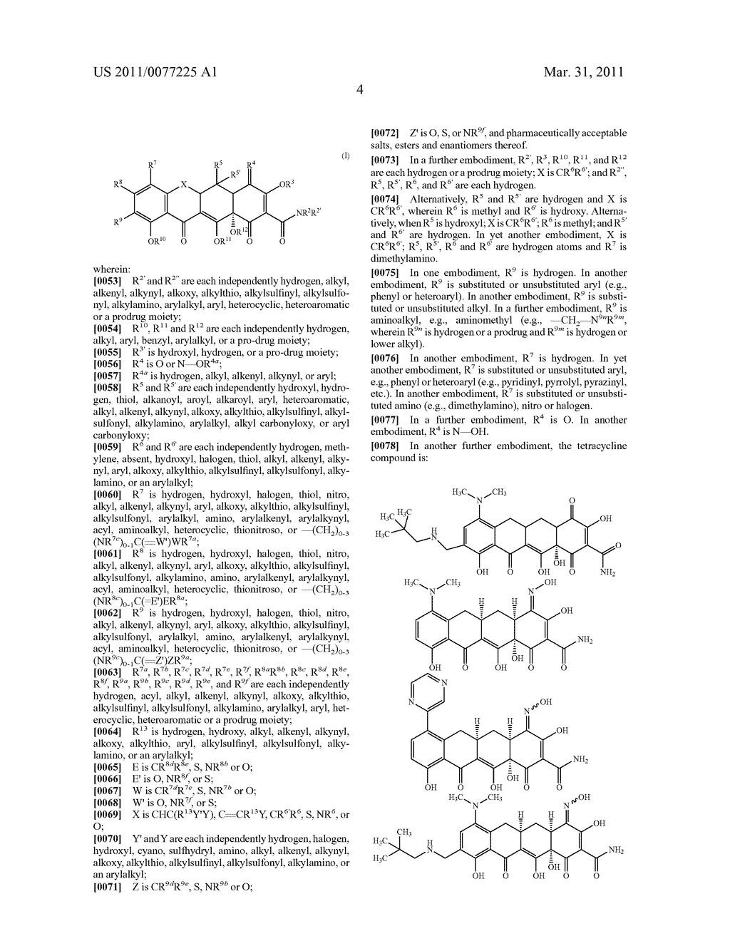 4-Substituted Tetracyclines and Methods of Use Thereof - diagram, schematic, and image 05
