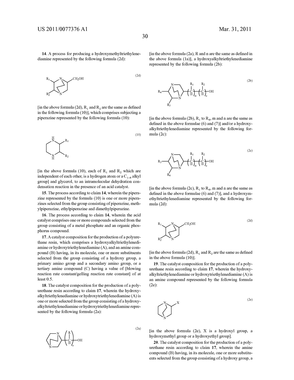 PROCESS FOR PRODUCING HYDROXYALKYLTRIETHYLENEDIAMINE, AND CATALYST COMPOSITION FOR THE PRODUCTION OF POLYURETHANE RESIN USING IT - diagram, schematic, and image 31