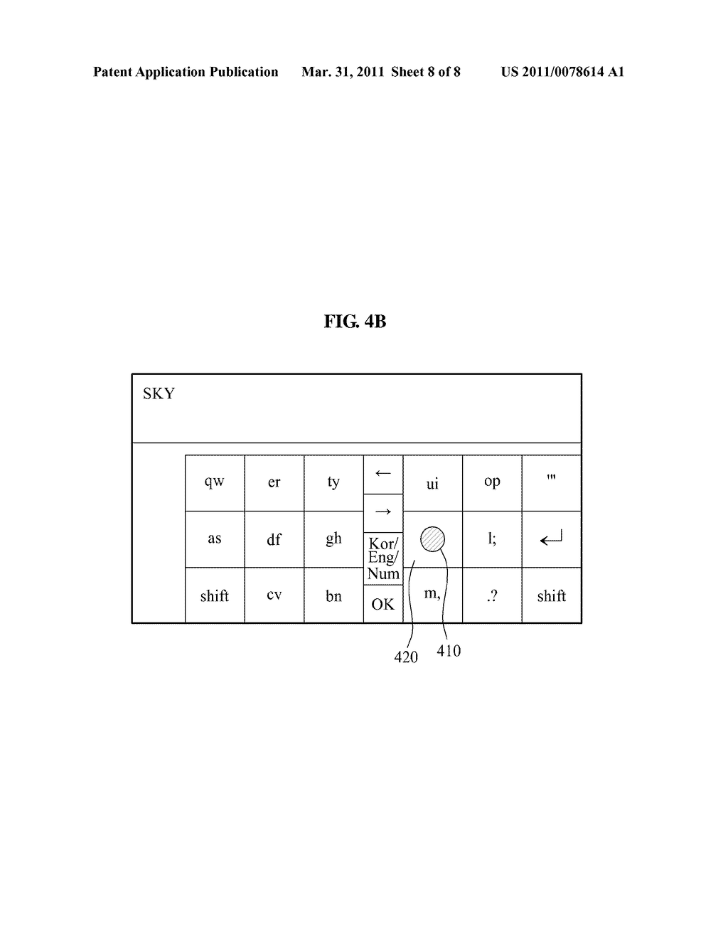 TERMINAL AND METHOD FOR PROVIDING VIRTUAL KEYBOARD - diagram, schematic, and image 09
