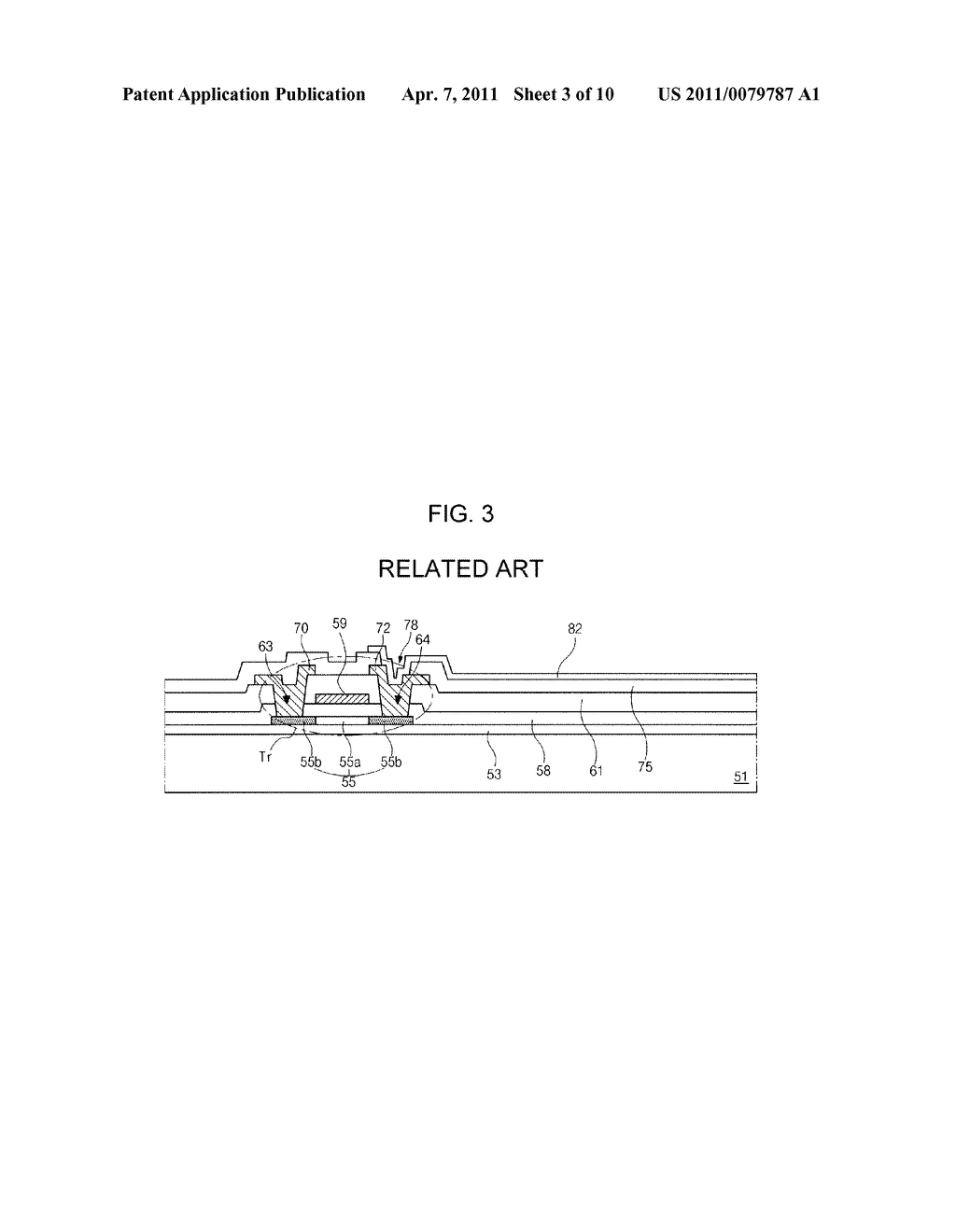 ARRAY SUBSTRATE FOR DISPLAY DEVICE AND METHOD OF FABRICATING THE SAME - diagram, schematic, and image 04