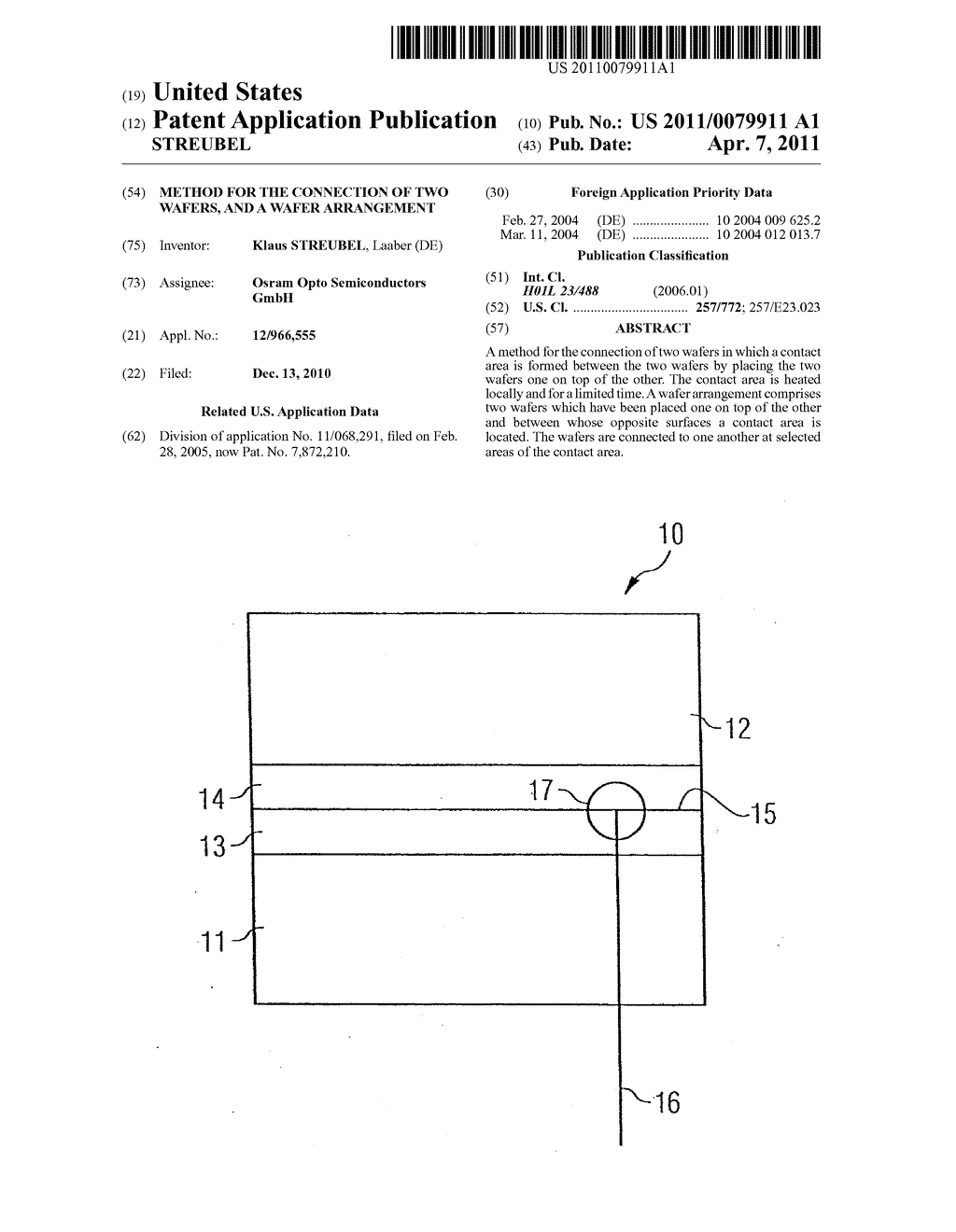 Method for the Connection of Two Wafers, and a Wafer Arrangement - diagram, schematic, and image 01
