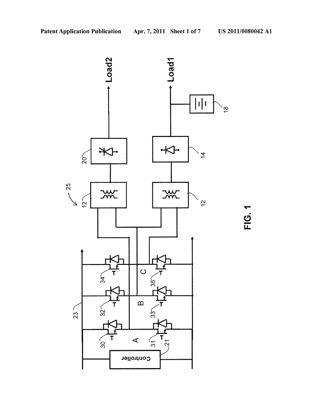 SYSTEM AND METHOD FOR PROVIDING POWER TO TWO LOADS FROM A SINGLE THREE-PHASE INVERTER - diagram, schematic, and image 02