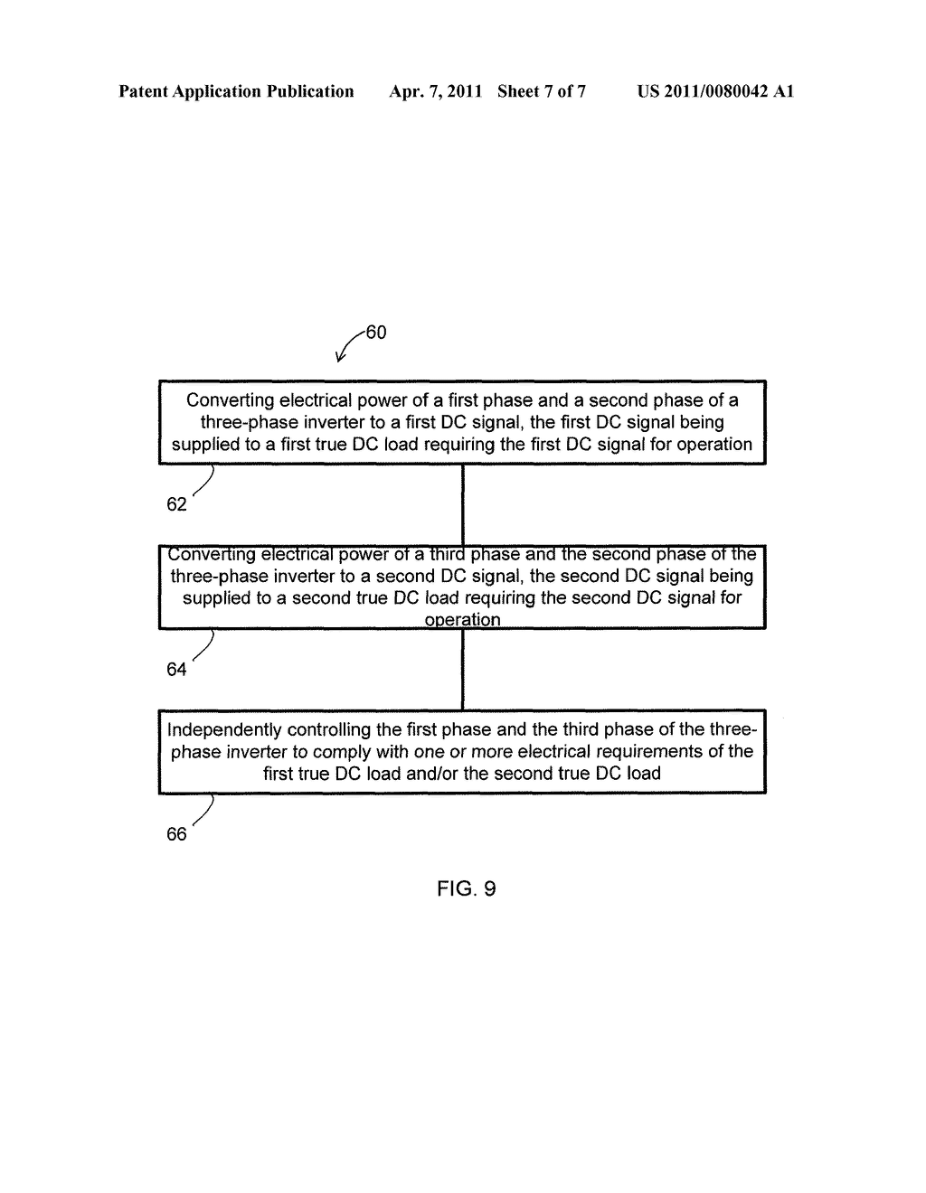 SYSTEM AND METHOD FOR PROVIDING POWER TO TWO LOADS FROM A SINGLE THREE-PHASE INVERTER - diagram, schematic, and image 08