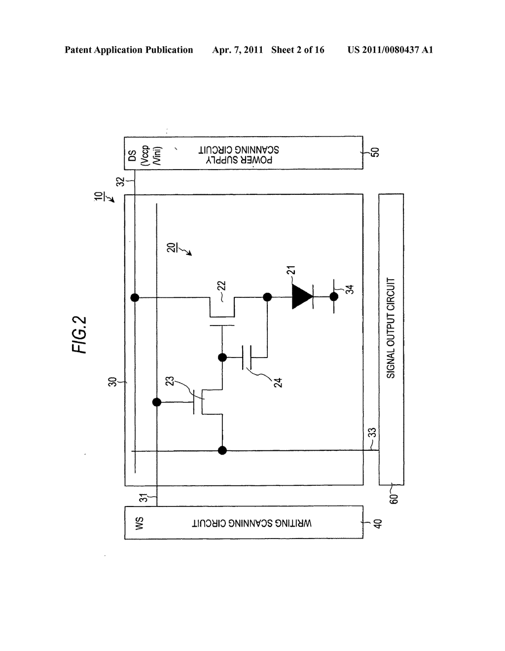 Display device, driving method of display device, and electronic apparatus - diagram, schematic, and image 03