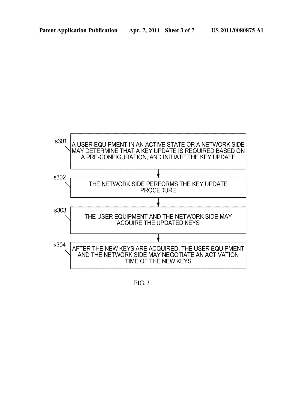 METHOD AND APPARATUS FOR UPDATING A KEY IN AN ACTIVE STATE - diagram, schematic, and image 04