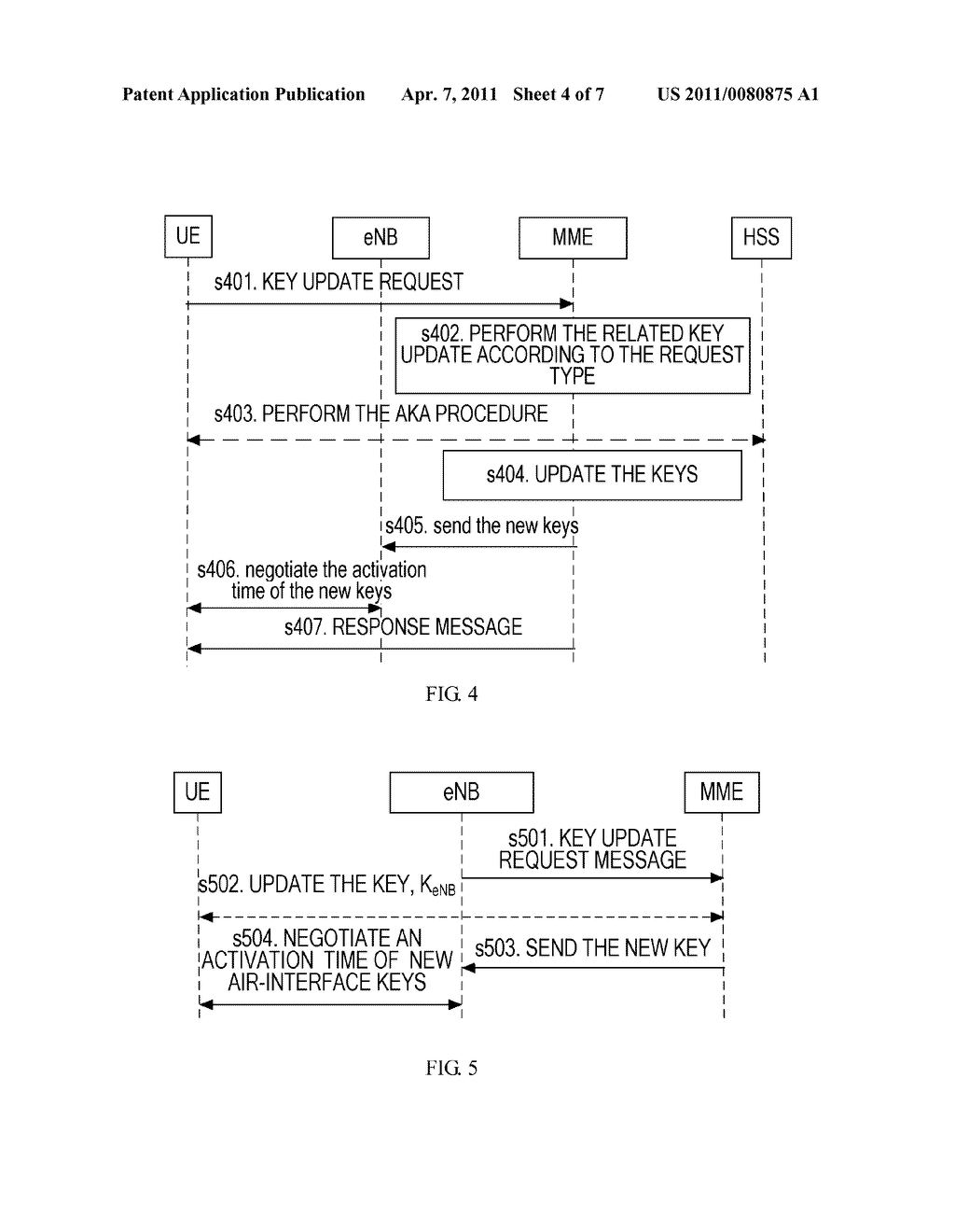 METHOD AND APPARATUS FOR UPDATING A KEY IN AN ACTIVE STATE - diagram, schematic, and image 05